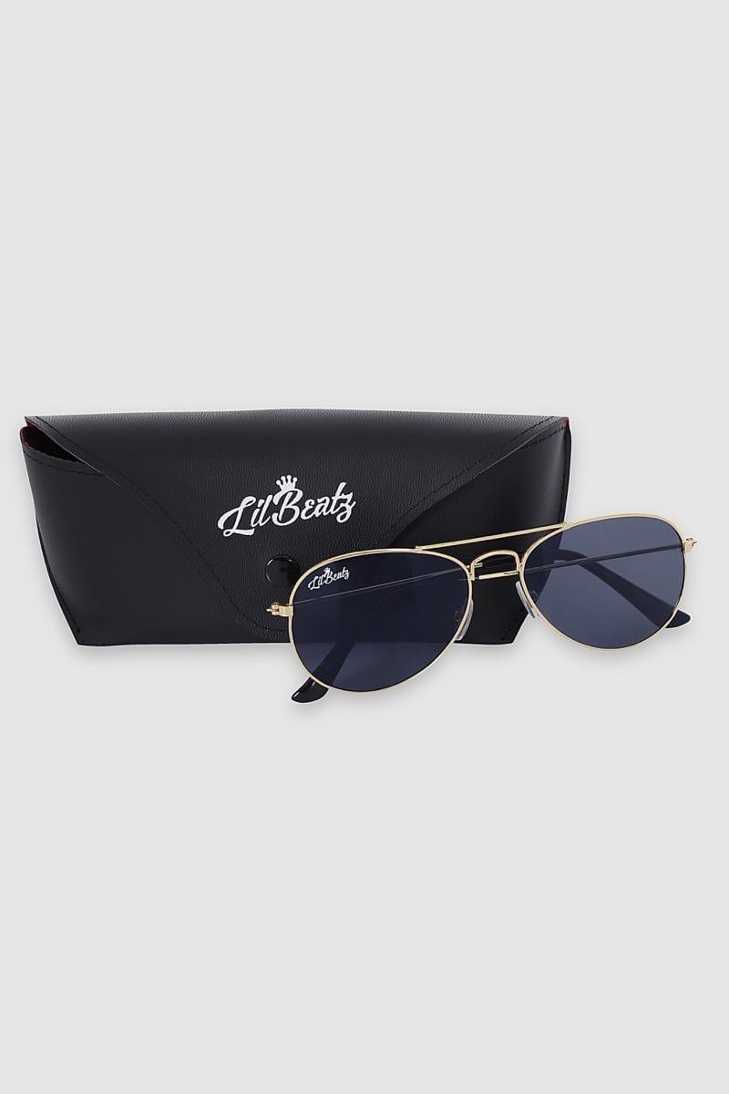 Aviator Sunglasses - Gold Case