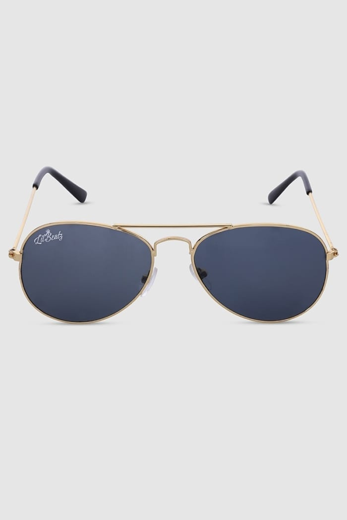 Aviator Sunglasses - Gold Front