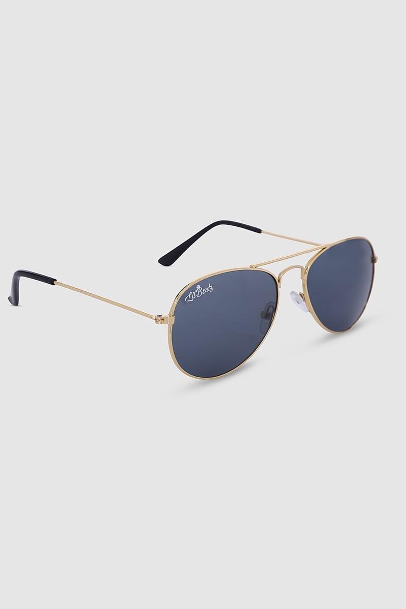 Aviator Sunglasses - Gold Side