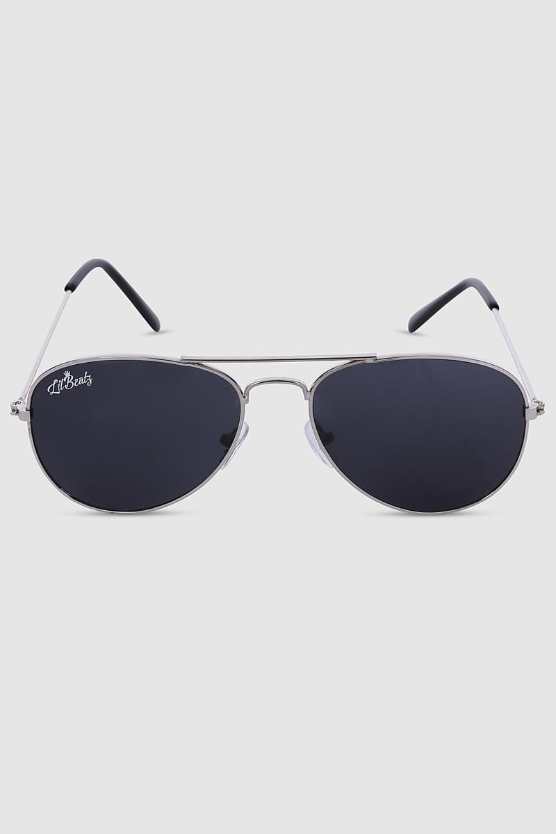 Aviator Sunglasses - Silver Front