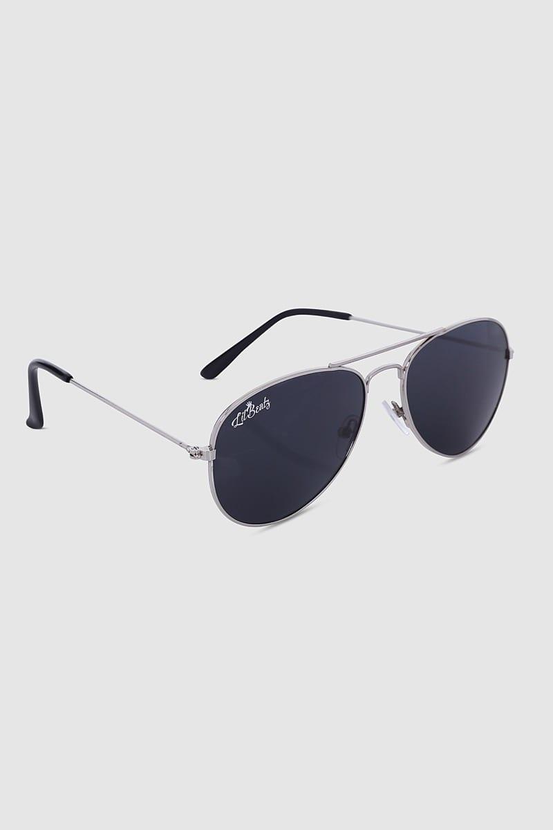 Aviator Sunglasses - Silver Side