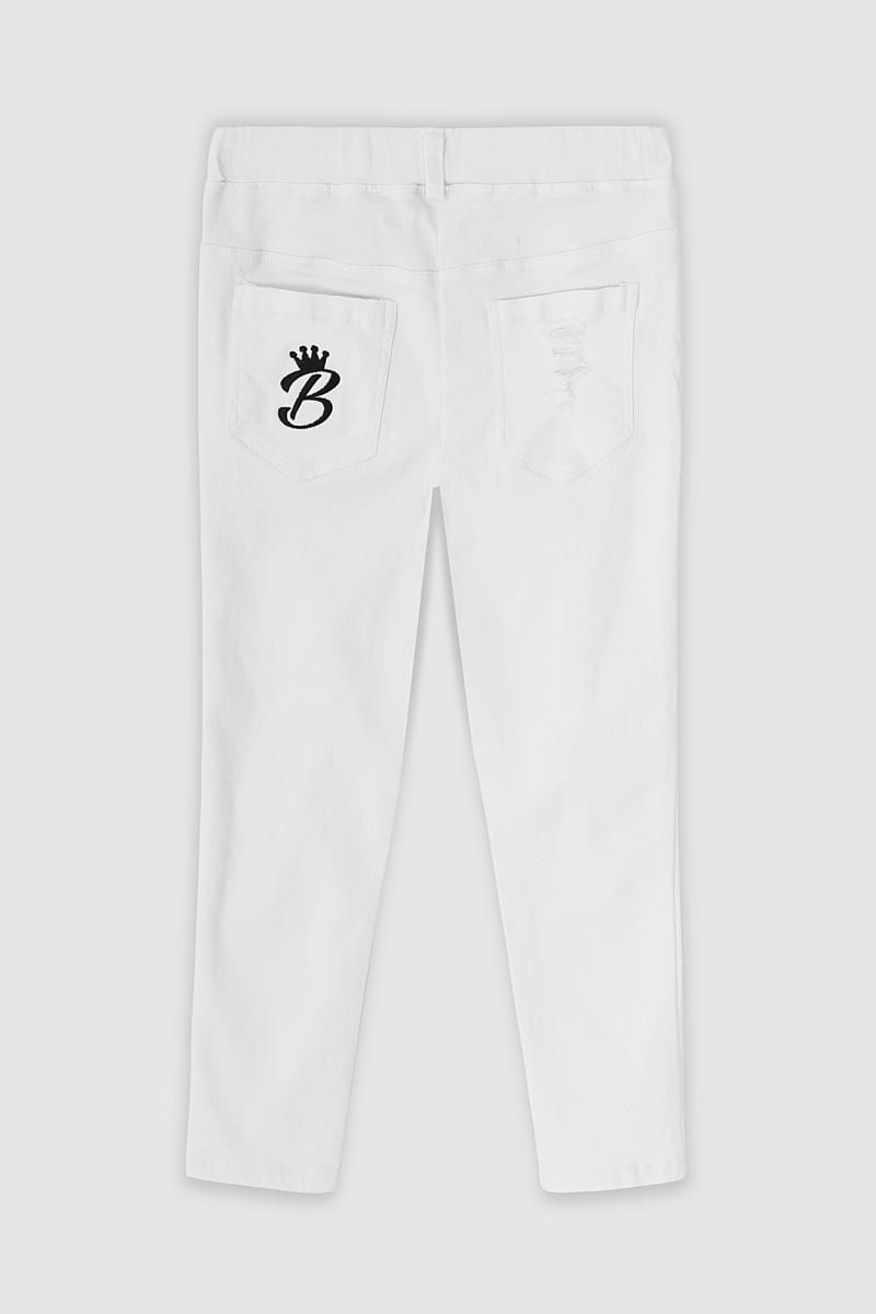 llection Jeans - White Back
