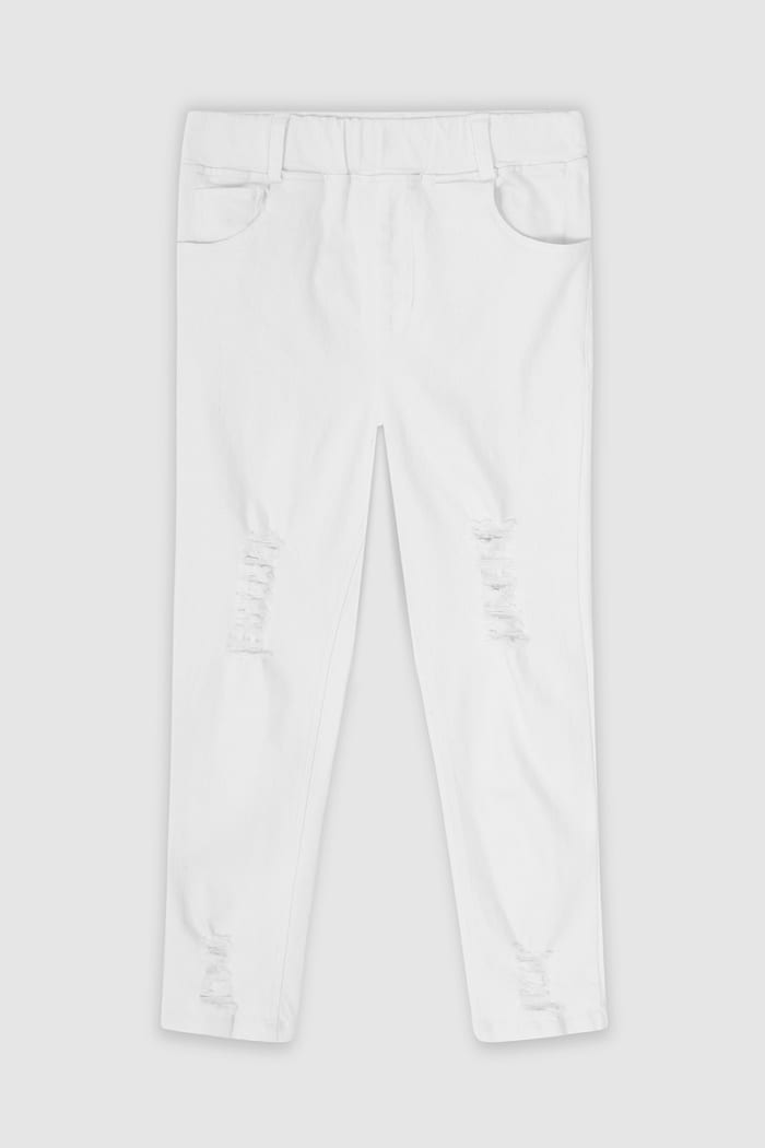 B Collection Jeans - White Front