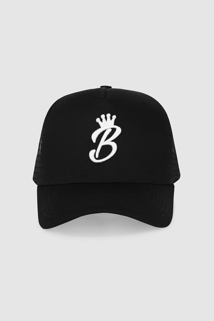 B Collection Snapback - Black : Front