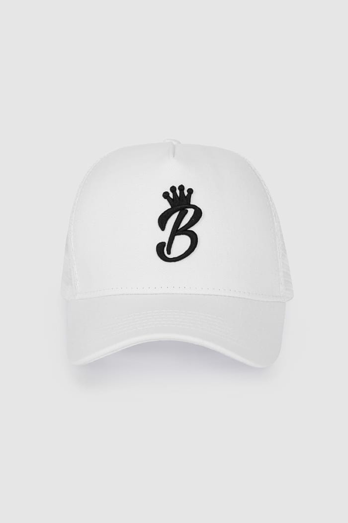 B Collection Snapback - White : Front