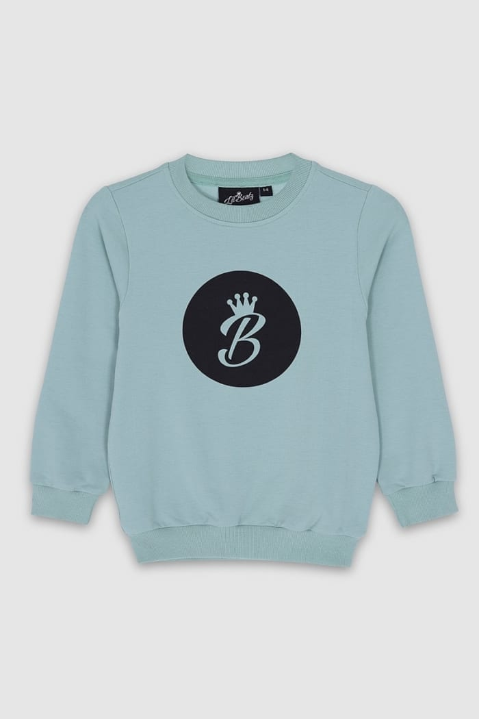 B Collection Sweatshirt - Top Turquoise Front