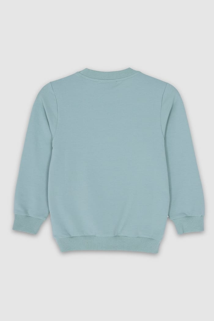 B Collection Sweatshirt - Turquoise Top Back