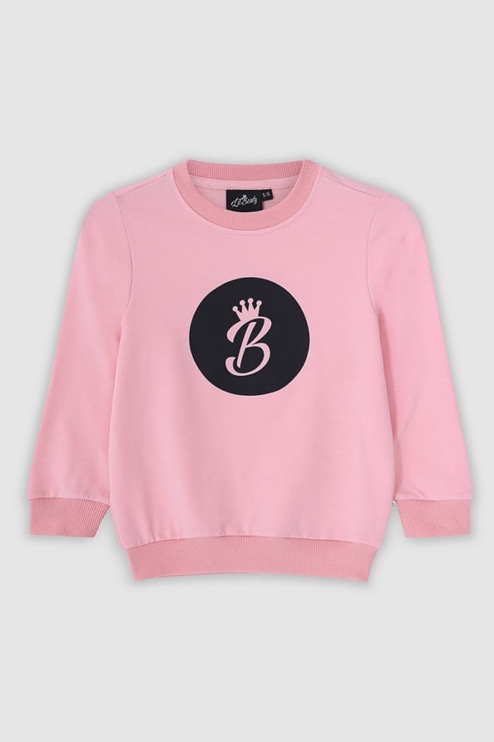 B Collection Sweatshirt - Pink Top Front