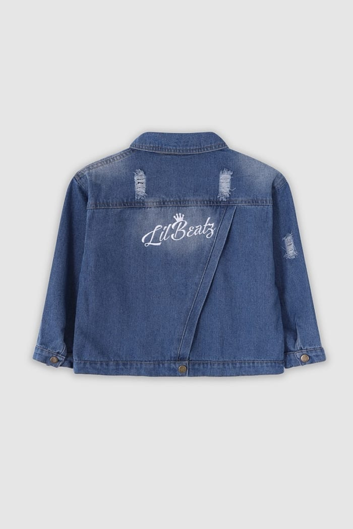 ped Denim Jacket - Light Blue Back