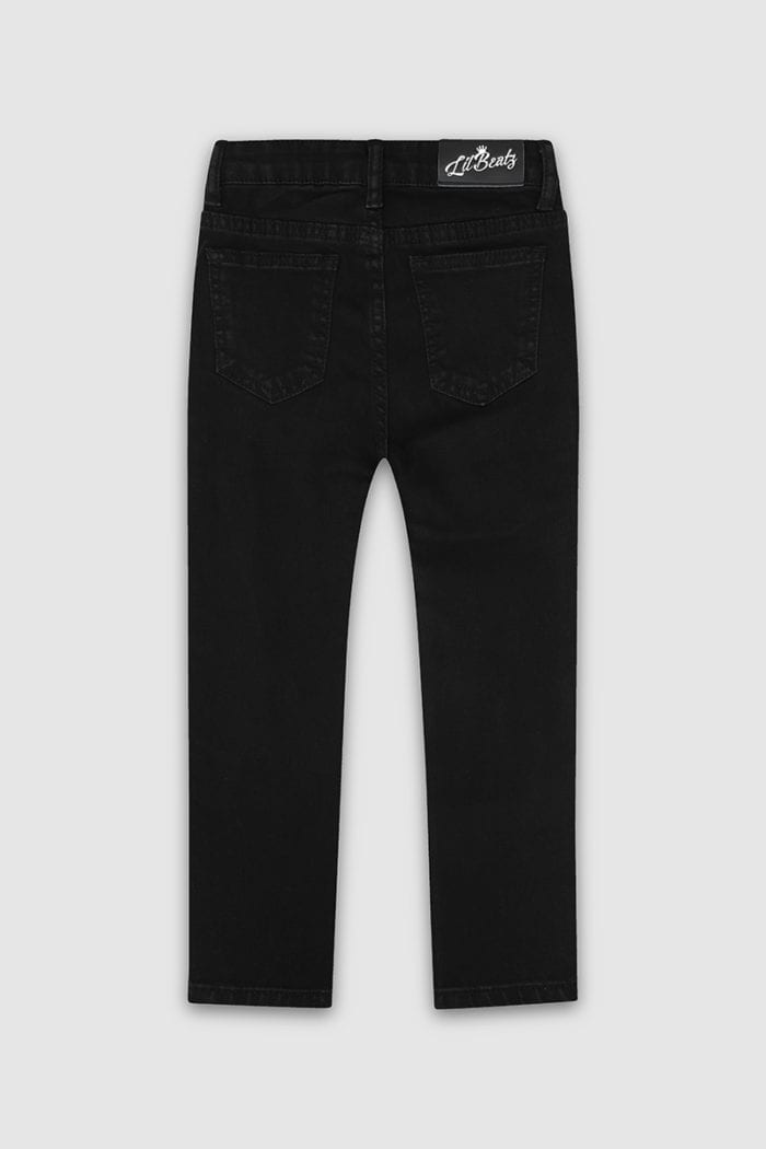 Classic-Ripped Skinny Jeans Black Boys Back