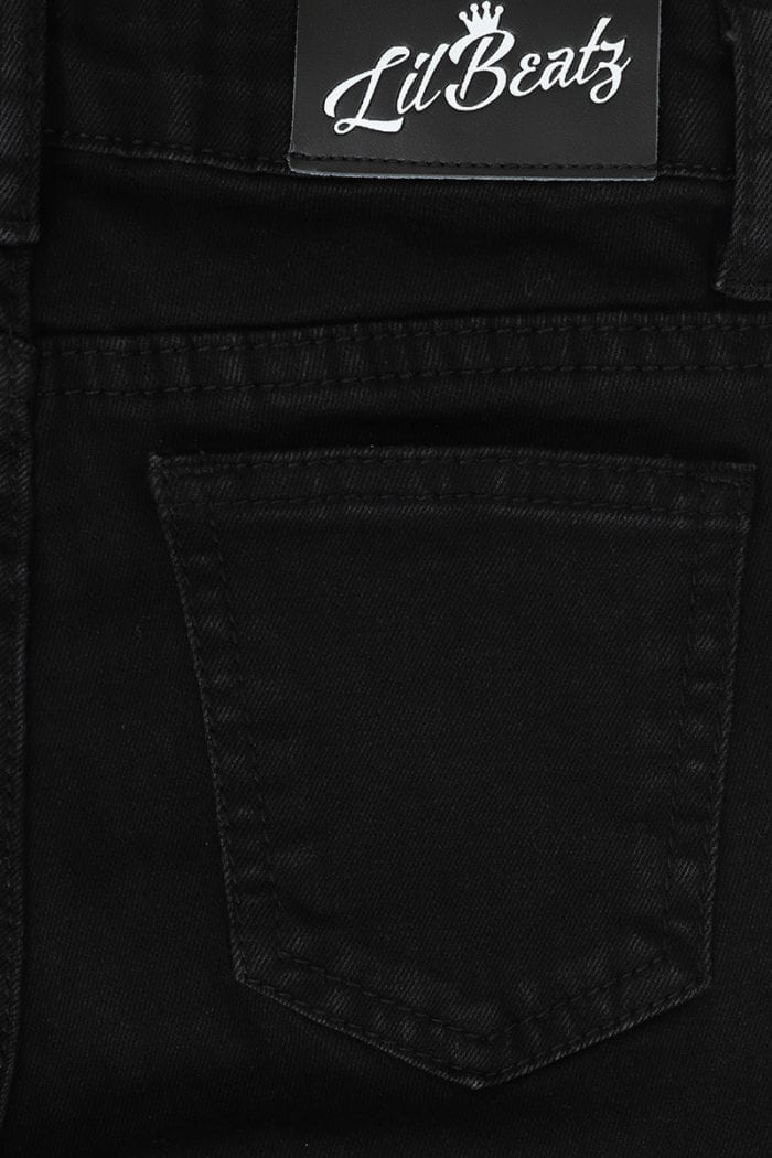 Classic-Ripped-SkiClassic-Ripped Skinny Jeans Black Boys Close Back