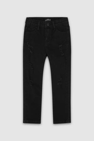 Classic-Ripped-SkiClassic-Ripped Skinny Jeans Black Boys Front