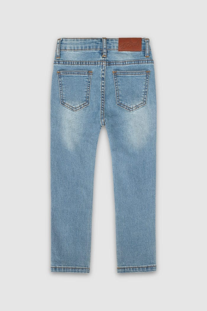 Classic Ripped Skinny Jeans Blue Boys Back