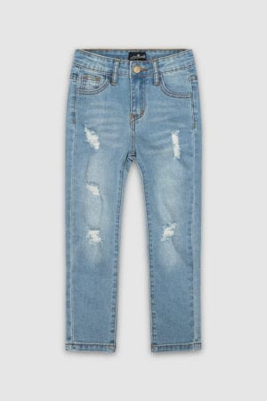 Classic Ripped Skinny Jeans Blue Boys Front