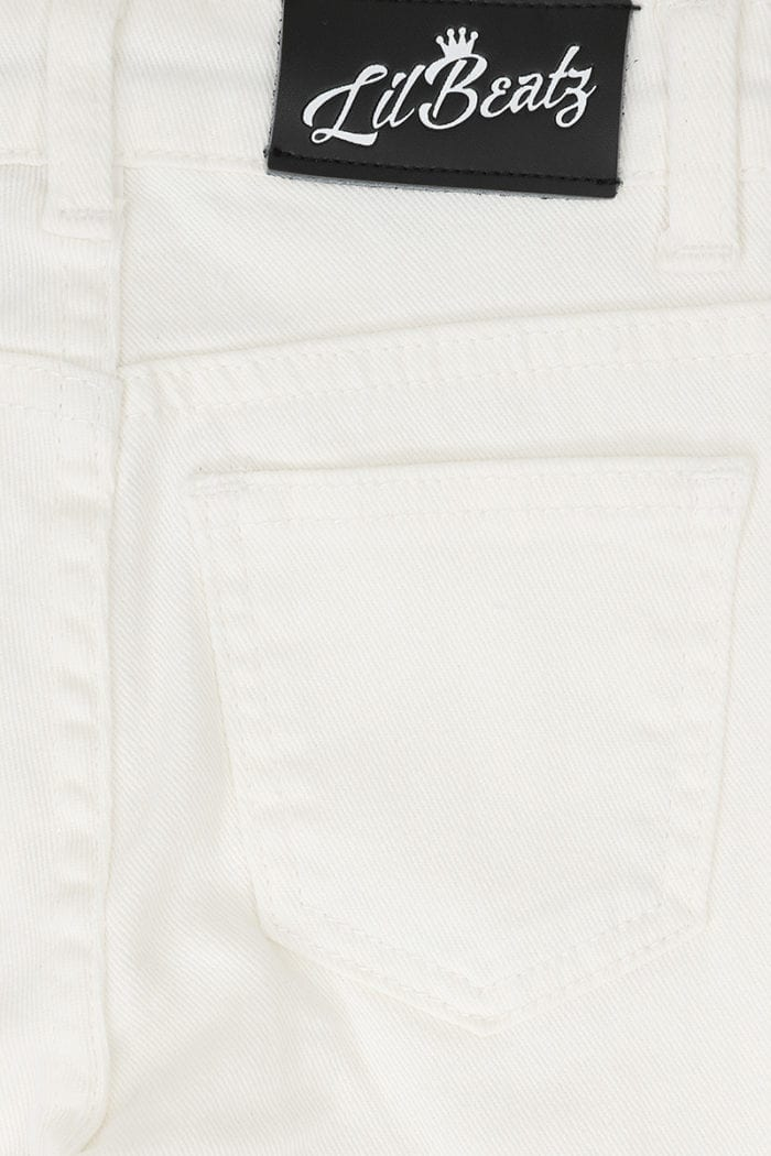 Classic Ripped Skinny Jeans White Boys Back Close